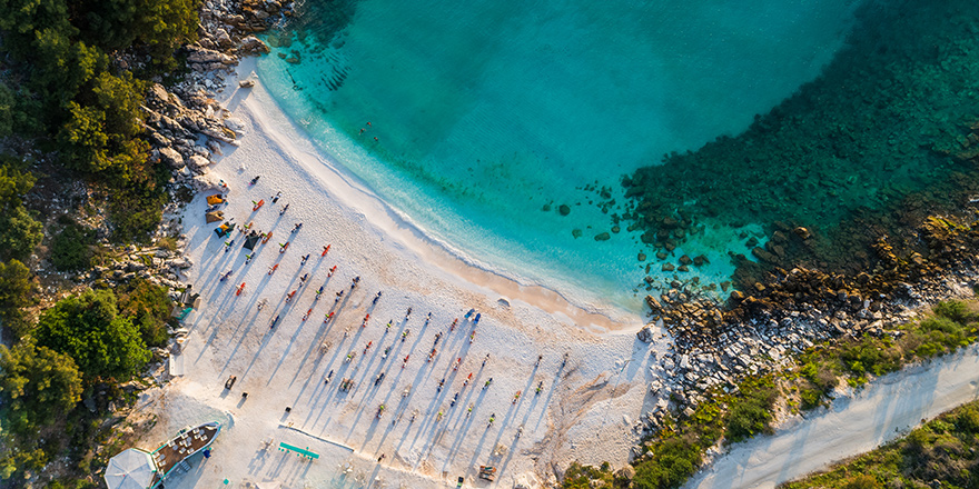 Amazing Drone Image from Saliara Beach in Greece